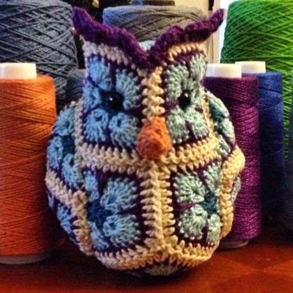 Custom handmade Crochet African Flower Fat Little by Lineandloops $18.85
