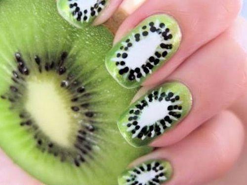 Crazy Nail Designs: Kiwi Fruits Nails Design ~ Nail Art Inspiration - 7 Best Crazy Nail Designs Images On Pinterest Crazy Nails, Crazy
