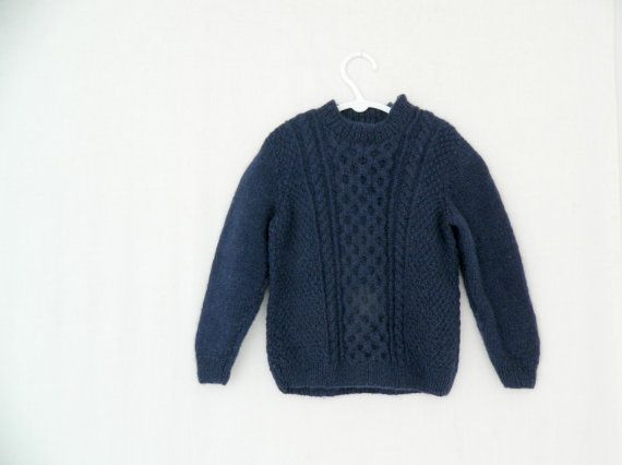 DARCY . vintage cable knit kids jumper . by ThePaisley5Vintage