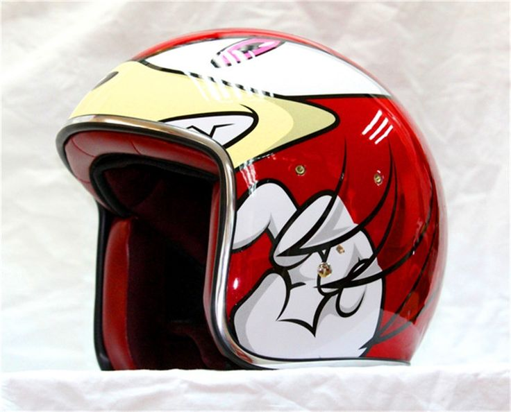 (60.00$)  Watch more here - http://aila9.worlditems.win/all/product.php?id=32690764152 - Iron Man sonic Classic personality fashion retro tide motorcycle motorcycle helmet helmet cartoon run half red