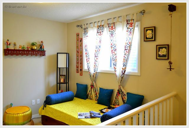 Making the most of the Landing area, Indian style decor