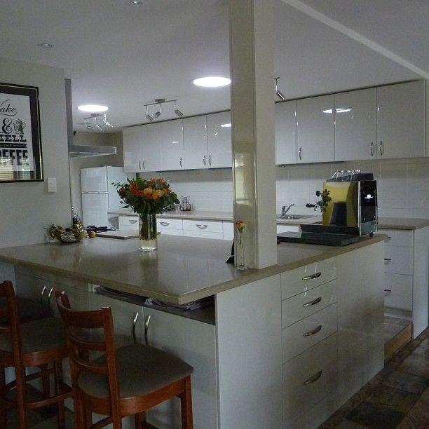 Caesarstone Shitake kitchen by www.graniteplanet.com.au