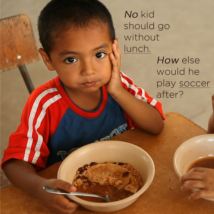 He is healthy and part of our Children's Feeding Initiative. Kids need to eat because kids need to be kids!
