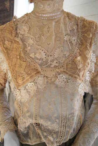 1890 викторианского ирландский вязаный крючком Лейси и филе вышитая блузка in Одежда, обувь и аксессуары, Винтаж, Винтажная одежда для женщин, До 1901 г. (Викторианская эпоха и раньше)   eBay