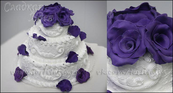 Свадебный торт из пирожных спб