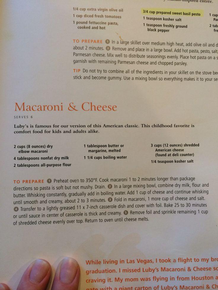 Luby's Mac and Cheese. Use regular milk and white American. Everyone's fav Mac recipe!