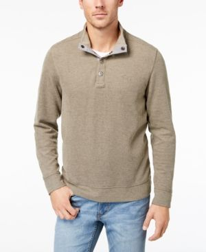 Tommy Bahama Men's Cold Springs Mock Neck Sweater, Created for Macy's - Brown 3XL