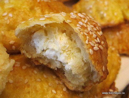 wonderful recipe for Tyropitakia with zimi kourou or Cheese Pies with Yogurt. http://greekgateway.com/news/greek-recipe-for-tyropitakia-cheese-pies-with-yogurt