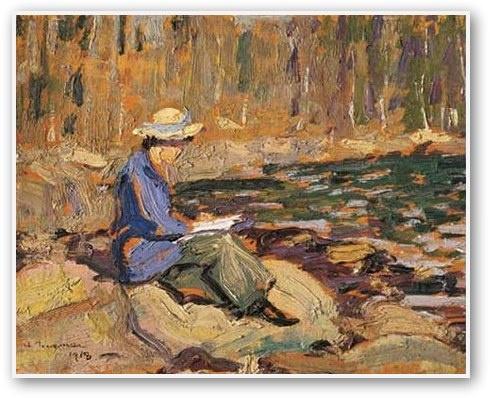 Arthur Lismer My Wife Sackville River