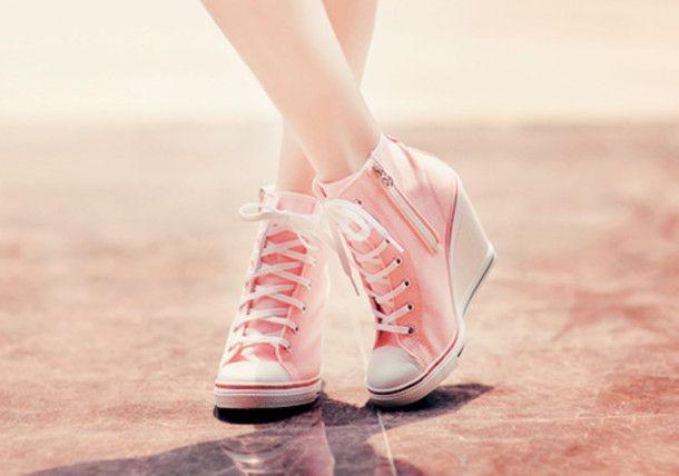 Shoes: converse, converse, pink, high heels, aqua blue, pastel ...