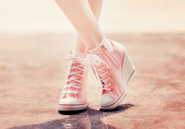 Shoes: converse, converse, pink, high heels, aqua blue, pastel ...