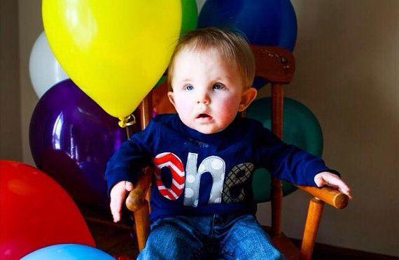 One First Birthday Shirt Boys first Birthday by BabyEmbellishments, $16.00