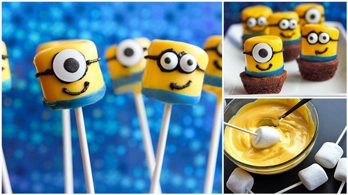 Cute DIY Minion Marshmallow Pops in 4 Easy Steps! - Hot Penguin