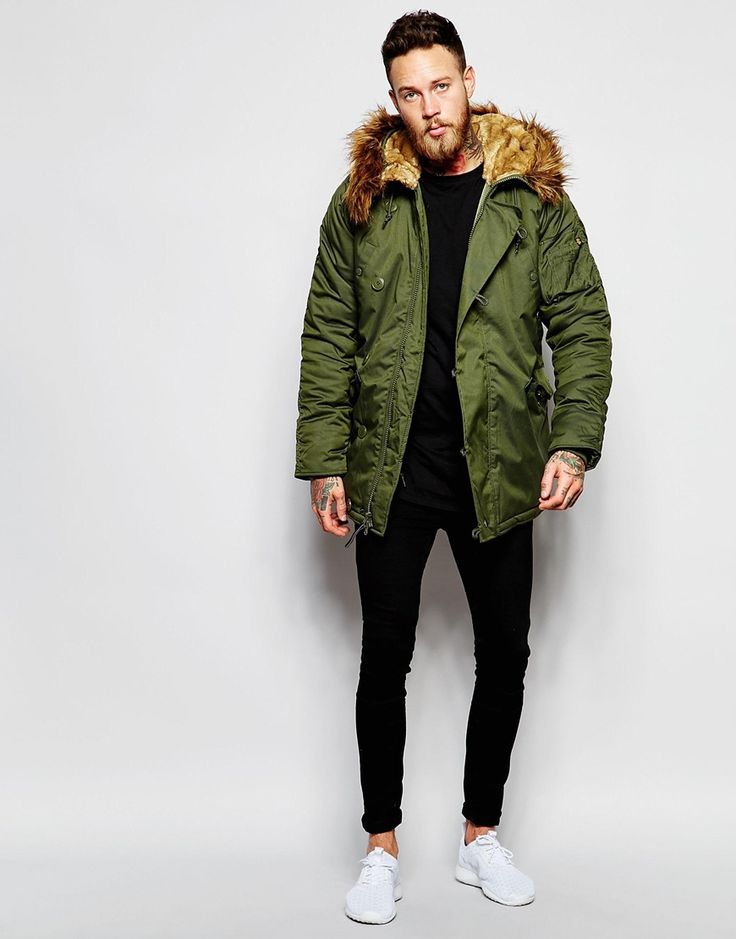Best 25  Green parka mens ideas on Pinterest | Outfit grid, Mens ...
