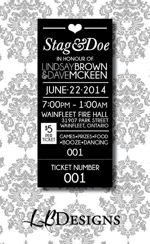 STAG & DOE TICKET Simple Tear Ticket by LindsayBrownDesigns, $80.00