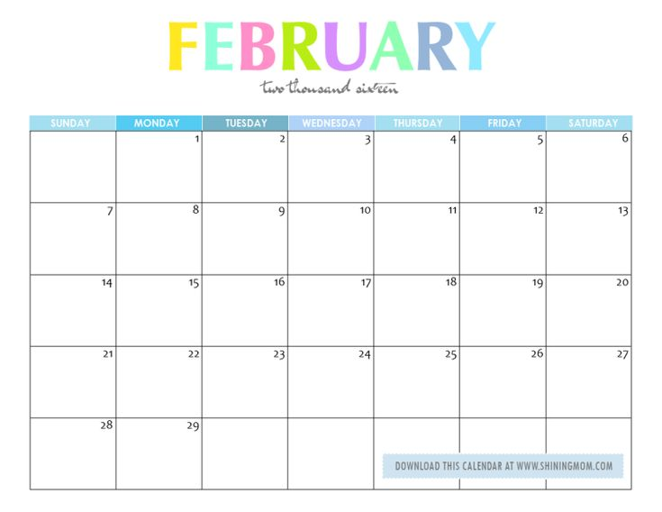 February Calendar Kids : Free printable your lovely calendars