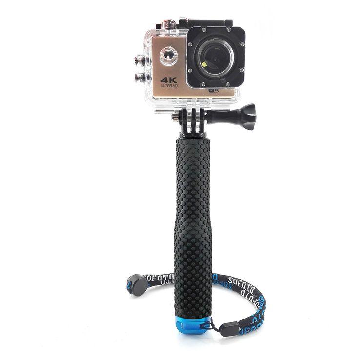 19 inch telescopic terjulur pole handheld monopod selfie tongkat untuk gopro hero 4 3 xiaomi yi sjcam sj4000 aksi kamera