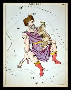 Auriga Constellation ZODIAC Star Chart ASTRONOMY Astrology Digitally Remastered Fine Art Print/Poster