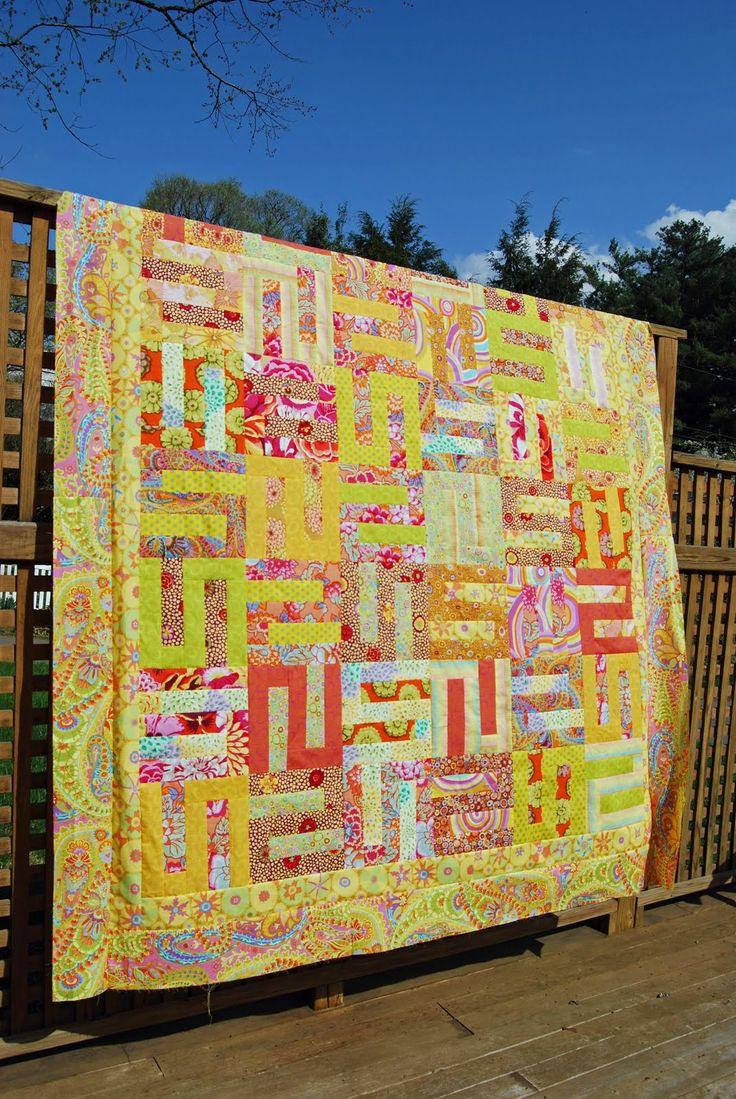 Fun quilt!Colors Speak, Kaffe Fassett, Fassett Quilt, Crafts Ideas, Quilty Fun, Fassett Design, Fun Quilt, Quilty Things, Amy'S Quilt