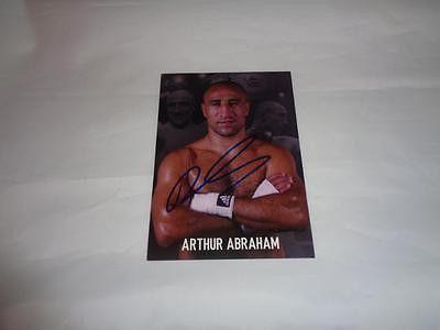 Arthur Abraham autographed post card COA Memorabilia Lane & Promotions