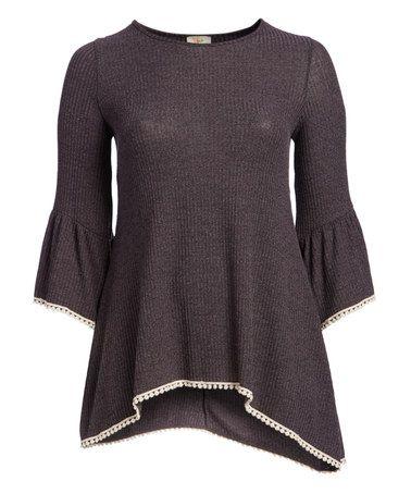 Look at this #zulilyfind! Charcoal Sidetail Tunic - Plus #zulilyfinds