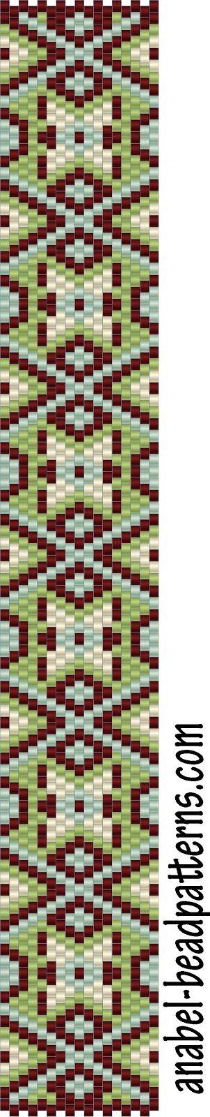 4 схемы браслетов - мозаика