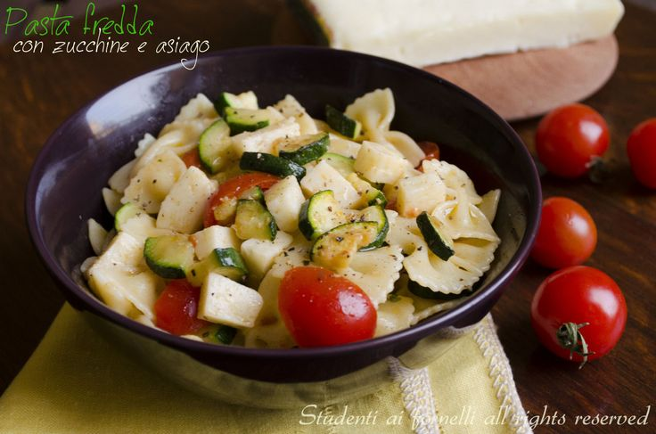 Pasta fredda con zucchine e asiago