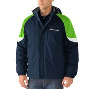 Men's Seattle Seahawks G-III Sports by Carl Banks College Navy End Zone Systems 3-in-1 Jacket