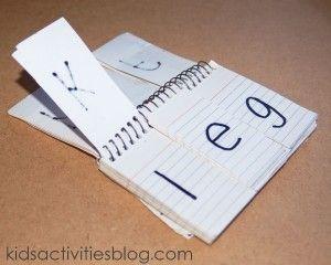 Early Literacy Tool: Phonetic Flip Chart - Kids Activities Blog