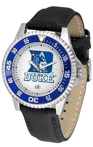 Duke University Blue Devils Men's Leather Sports Watch