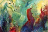 Animal-Healing - Olie på lærred 110 X 75 cm 6.900 kr www.hbh-art.dk