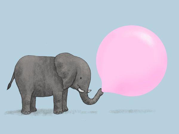 Jumbo Bubble Gum Art Print by Terry Fan