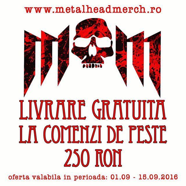Livrare gratuita la comenzi de peste 250 RON! www.metalheadmerch.ro #romania #livraregratuita