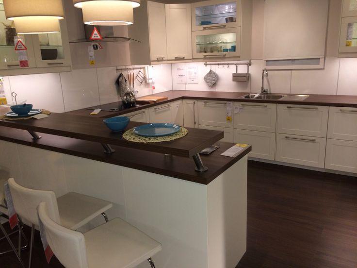 Ikea Kitchen with Breakfast bar
