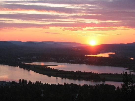 Midnight sun   Kiruna, Sweden