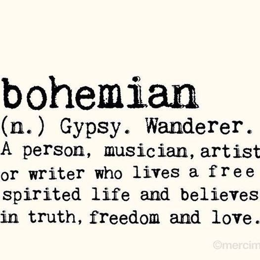 definition of bohemian