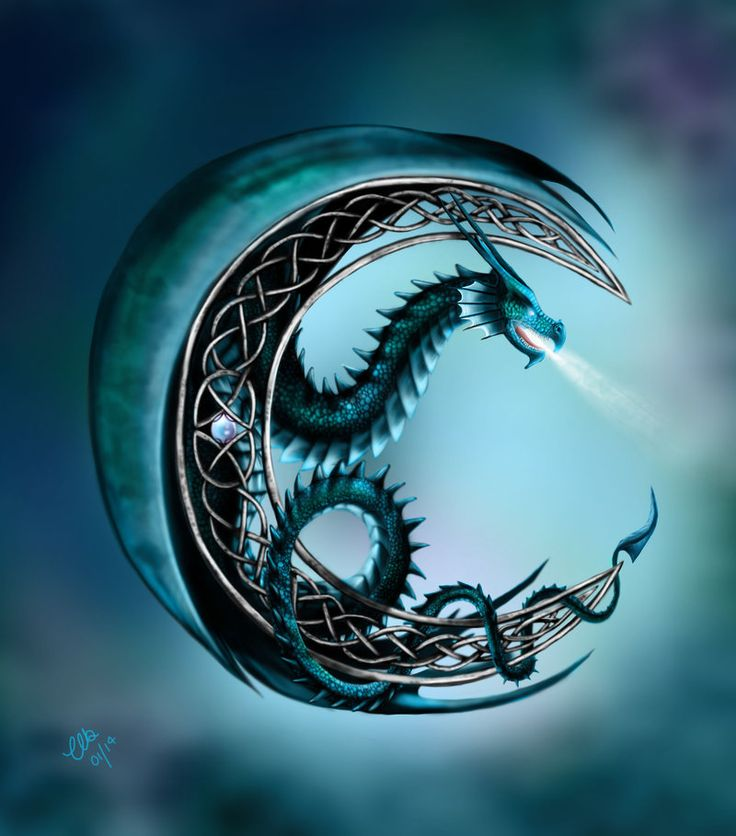 Celtic Moonlight by CLB-Raveneye on deviantART Would love to get this on my shoulder!