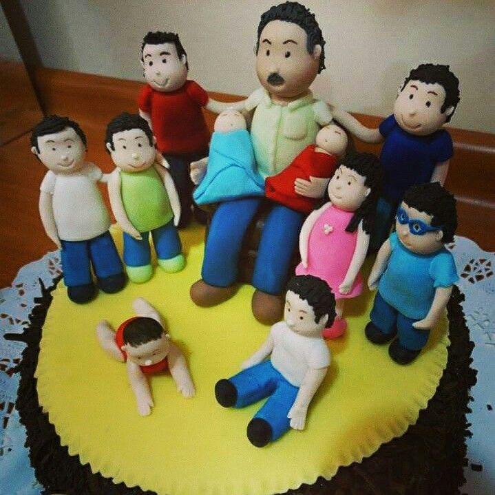 Torta tata y nietos..
