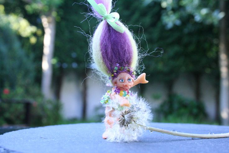 Troll - Troll Minifigure - Miniature Doll - Articulated Miniature Doll - Polymer Clay Minifigure - Collectable Figurine -  Posable Doll by BlackCatCreativeStd on Etsy https://www.etsy.com/listing/171548804/troll-troll-minifigure-miniature-doll