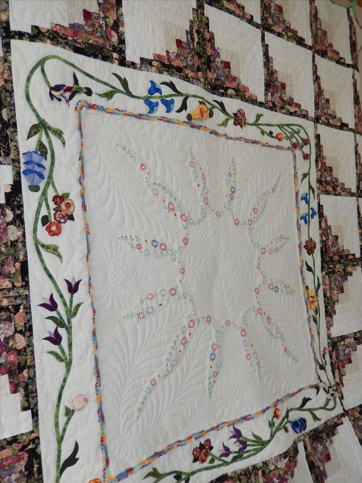 Close up of the centre of the quilt.