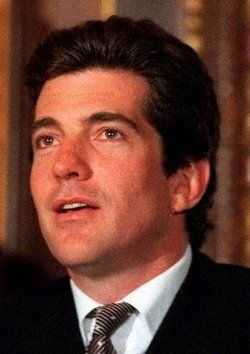 John Fitzgerald Kennedy, Jr died in a plane crash, He was Cremated and his ashed scattered so there is no official burial site.