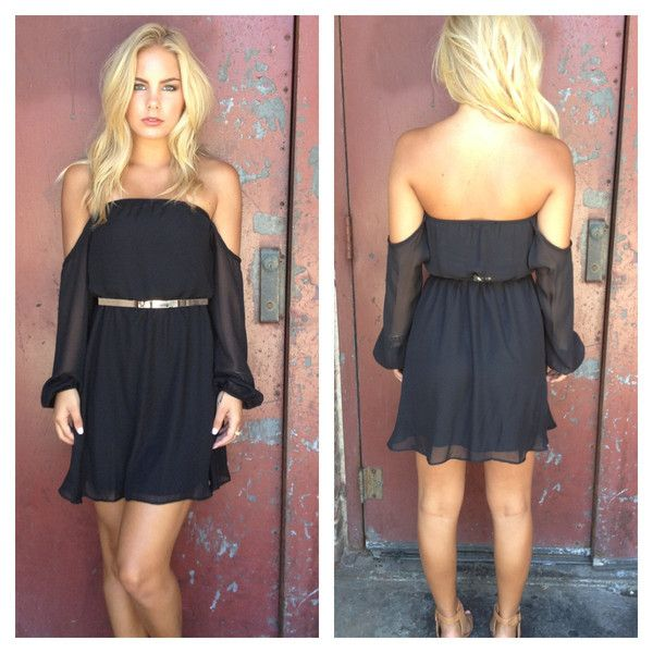 Black Off Shoulder Chiffon Dress: One of my favorite places, she always has new stuff