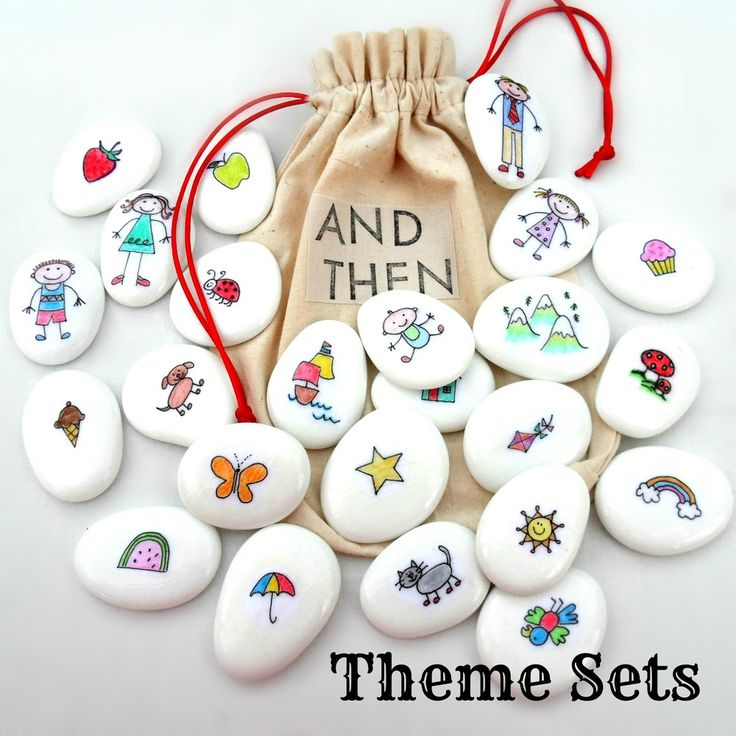 "#Basteln mit #Kindern - Steine bemalen - Figuren und Accessoires für ausgedachte Geschichten - tolle Idee! // Story Stones... what a ""novel"" idea! (THAT slogan is all mine!!!) -kris"