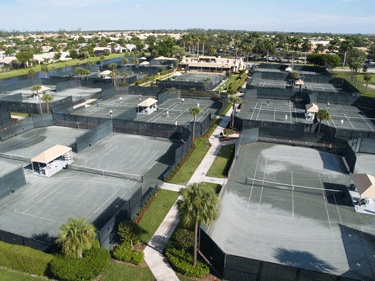 The Tennis Center has 21 har-tru courts and includes a tournament stadium court designed for exhibition play. Gleneagles Country Club (Delray Beach, Florida)