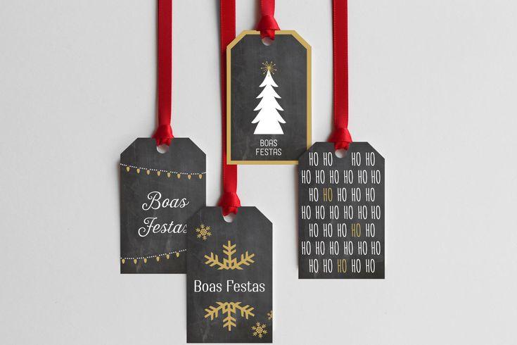 Porque o natal está quase à porta, partilho convosco esta semana umas lindas etiquetas de natal da minha autoria, que podem descarregar grátis e utilizar para identificar as vossas prendas de natal...