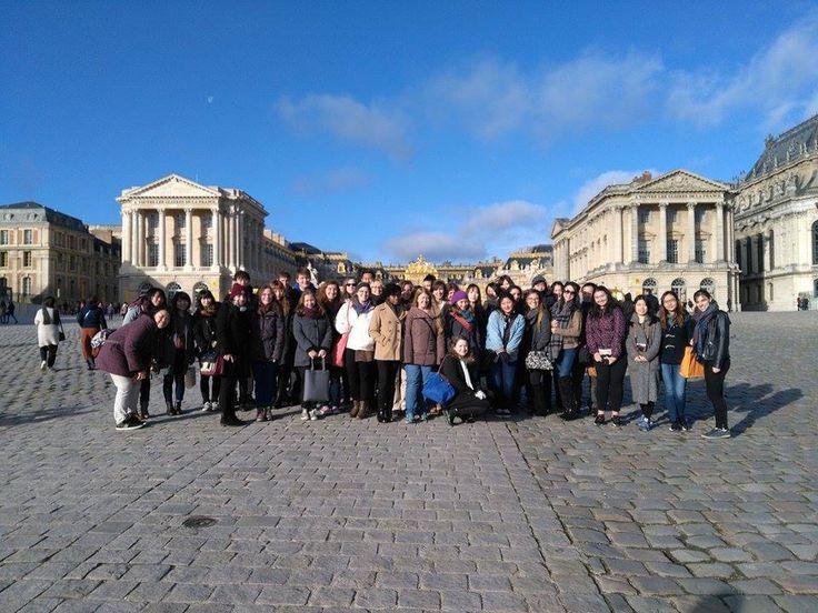 Visite de Versailles avec un groupe d'étudiants CIDEF