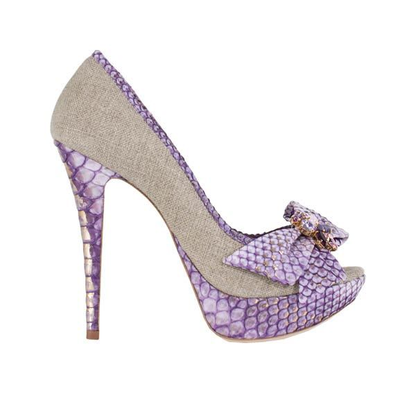 LoribluPython Heels, Purple Shoes, Loriblu Shoes, Woman Shoes, Bows, Sandals Flat, Pretty Python, Luxury Heels, Boots Heels Flats