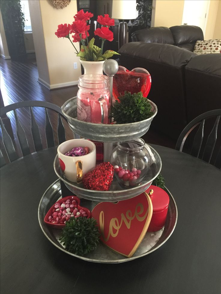 Obsessed with my 3 tiered tray!! First holiday #valentinesday #potterybarn