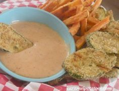 Can you eat french fries without ketchup? The answer is yes, but boring. Same goes for sweet potato fries and fried zucchini- they just need the perfect sauce to dip in. Ranch is okay, but try this southwest dipping sauce to liven up your fries, burgers and sandwiches. They'll never be boring again!