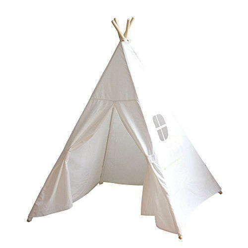 Dream House Classic Solid White Four Poles One Window Style Indian Teepee Tent for Kids Great Gift for Children Birthday Christmas Sleepover Party and Playroom Decoration, http://www.amazon.com/dp/B00X727IJO/ref=cm_sw_r_pi_awdm_lHRwwbEGP14WW